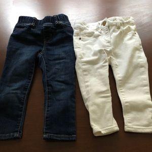 Set Of 2 Gap j Crew Crewcuts Baby Skinny Jeans 2T
